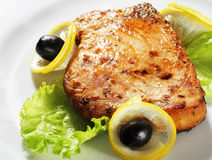 Fish Steak Royalty Free Stock Photography