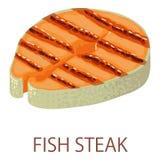 Fish steak icon, isometric style. Fish steak icon. Isometric illustration of fish steak vector icon for web Royalty Free Stock Image