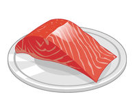 Fish steak of salmon isolated illustration Stock Image