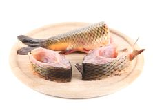 Fish steaks and tail. Royalty Free Stock Photography