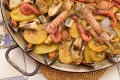 Fish stew and mixed seafood Royalty Free Stock Photo