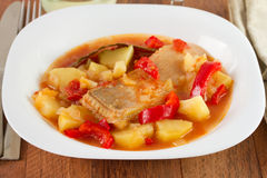 Fish stew on the plate Royalty Free Stock Photos