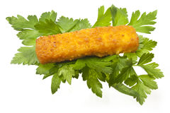 Fish stick and parsley Royalty Free Stock Photos