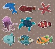 Fish stickers vector illustration