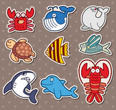 Fish stickers royalty free illustration