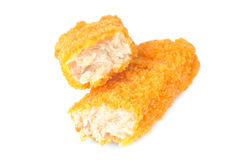 Fish sticks isolated on a white background Stock Photography