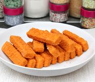Fish sticks Royalty Free Stock Photos