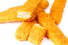 Fish sticks on a white Stock Photography