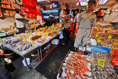 Fish store in China Town Stock Photography