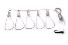 Fish Stringer. Steel fish stringer isolated on white background Royalty Free Stock Photos