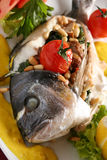 Fish stuffed mushroom Stock Photos