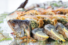 Fish with stuffing Stock Photos