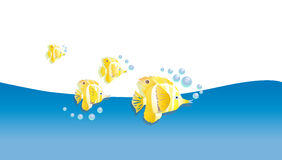 Fish stylized yellow  Royalty Free Stock Photo
