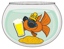 Fish in sunglasses Royalty Free Stock Image