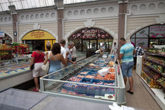 Fish supermarket in Odessa city. Ukraine Royalty Free Stock Image