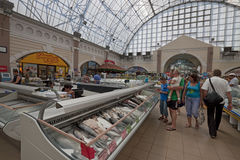 Fish supermarket in Odessa city. Ukraine Royalty Free Stock Photography