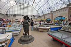 Fish supermarket in Odessa city. Ukraine Royalty Free Stock Photos
