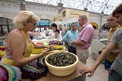 Fish supermarket in Odessa city. Ukraine Stock Photos