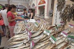 Fish supermarket in Odessa city. Ukraine Royalty Free Stock Images
