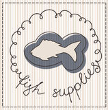 Fish supplies label Royalty Free Stock Photo
