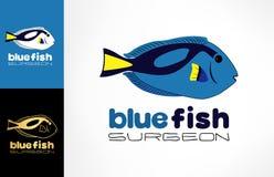 Fish surgeon logo. Logo design vector illustration Stock Photos