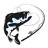 Fish swallows bait vector. For fishing Stock Image