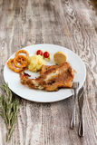 Fish in sweet sauce Stock Images