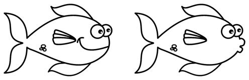 Fish swimming for coloring Stock Photo