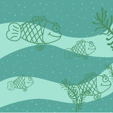 Fish. Fish swimming in different directions.Drawing Royalty Free Stock Photography