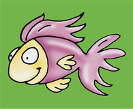 A fish swimming. Humorous mascots buttons for the web Royalty Free Stock Image