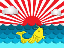 Fish swimming in the sea with sunshine for summer concept Royalty Free Stock Photography