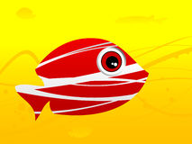 Fish in swirls. On gradient background Royalty Free Stock Photography