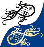 Fish symbol Royalty Free Stock Image