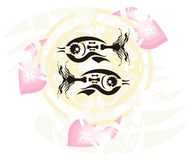 Fish symbol Royalty Free Stock Image