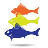 Fish symbol Stock Photos