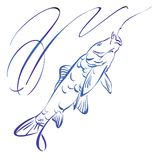 Fish symbol,  hand drawn vector illustration Royalty Free Stock Photography