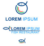 Fish symbol. Symbol fish restaurant menu  project Royalty Free Stock Photo