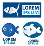 Fish symbol set. Isolate on white background Stock Photos