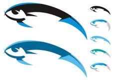 Fish symbols Royalty Free Stock Image