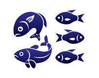 Fish symbols Stock Photos