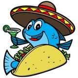Fish Taco Cartoon. A vector illustration of a Fish Taco Cartoon Royalty Free Stock Image