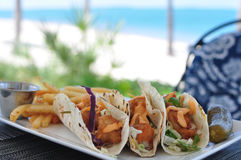 Fish Tacos Stock Photography