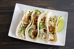Free Fish Tacos With Lime Crema Royalty Free Stock Photo - 158194075