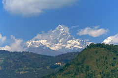 Fish tail mountain Annapurna Royalty Free Stock Images