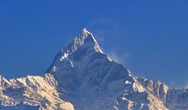 Fish tail mountain view in Annapurna Stock Photos