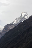 Fish Tail or Mt.Machhapuchhare in Annapurna Trekking trail, Nepal Royalty Free Stock Images