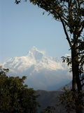 Fish Tail Peak in Pokhara, Nepal Stock Image