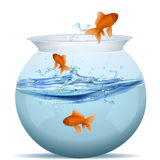 Fish tank. Illustration of fish tank on white background Stock Photos