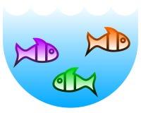 Fish tank. Creative design of fish tank Royalty Free Stock Photos