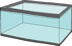 Fish Tank Full of Water. Single rectangular pet fish tank full of water Royalty Free Stock Photo